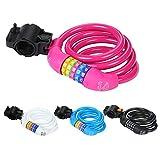 Diamond Sports Cable Bike Locks (Pink)