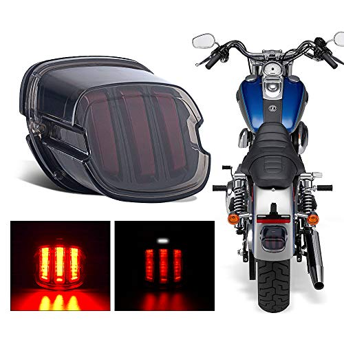 - 4WD FANS Smoked LED Tail Light for Harley Davidson Motorcycle Sportster 1200 Dyna Road King Electra Glide Street Bob Touring