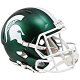 Michigan State Spartans SATIN GREEN Officially Licensed NCAA Speed Full Size Replica Football Helmet