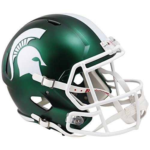 Riddell Michigan State Spartans SATIN GREEN Officially Licensed NCAA Speed Full Size Replica Football Helmet ()