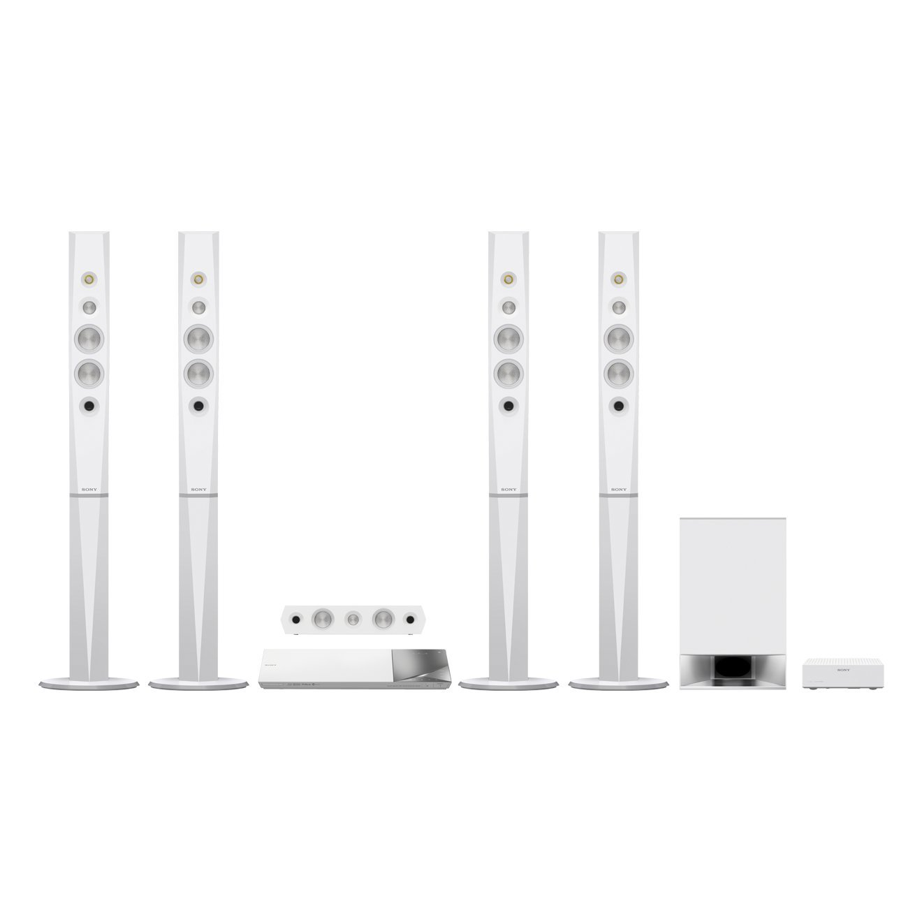 Sony BDV-N9200W Blu-ray home cinema system, 3D with Bluetooth and High-Resolution Audio - white