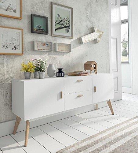 Aparador estilo nordico vintage 160 HOME - BON CONCEPT: Amazon.es ...