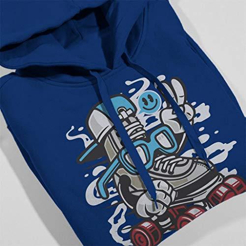 Skater Sweatshirt In Hooded Line Blue Women's Royal 5wIqTpv1