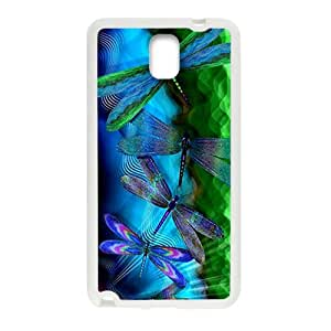 Colorful beautiful butterfly fashion plastic phone case for samsung galaxy note3