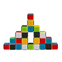 Infantino Sensory Press & Stay Sensory Blocks. 24 Blocks in the set. Encourage imagination and eliminate frustration with a building block set that is easy for even the youngest builders to attach and stack together into fun shapes, high towers a...