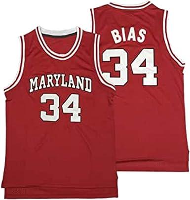 nobrand Horlohawk Men's Len Bias 34 Maryland Terrapins Movie Basketball Jersey Stitched