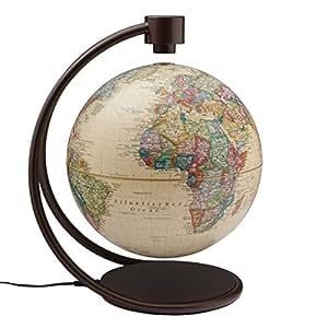 "Stellanova Political Antique Ocean Levitating 8"" Globe"
