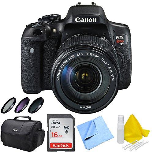Canon EOS Rebel T6i DSLR Camera and EF-S 18-135mm IS STM Len