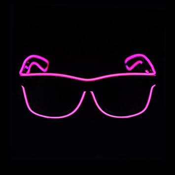 Amazon.com: Aquat LED Neon Rave Glasses El Wire Glow Sunglasses ...