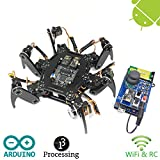 Freenove Hexapod Robot Kit with Remote Control | Arduino Based Project | Raspberry Pi | Spider Walking Crawling 6 Legged | Detailed Tutorial | Android APP | Wi-Fi Wireless RC 2.4G Servo