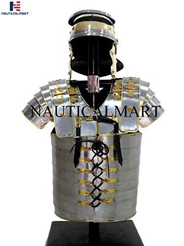 - NAUTICALMART Roman Lorica Segmentata Body Armor Legionaries Cuirass Halloween Costume
