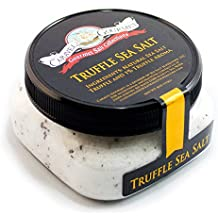 Truffle Salt - Authentic Italian Black Truffle Fine Sea Salt - Aromatic Truffles Imported From Italy - Steaks, Popcorn, French Fries