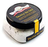 popcorn 20 lb - Gourmet Italian Black Truffle Fine Sea Salt - Solar Evaporated & Infused With Aromatic Tasting Truffles Imported From Italy - Ignite the Flavor of Steaks, Popcorn, French Fries - 4 Oz Jar