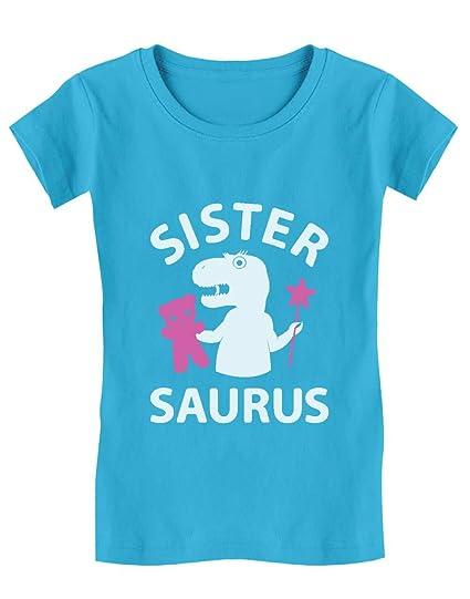 Camiseta de Manga Corta para niñas - Sister Saurus - Regalo ...