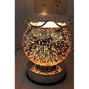 Navillus - 3D Fireworks Touch Lamp - Globe Shape, Beautiful design, oil warmer with dimmer in Multicolors color