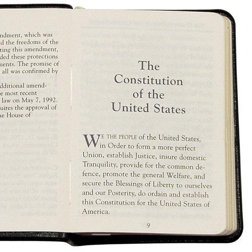 United States Mini Constitution, Genuine Leather, 2-3/4'' X 3-3/4''