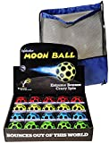 Waboba MOON Extreme Bounce Balls, Bundle of 20, 5 each in 4 Neon Colors, BONUS Blue Nylon-Black Mesh Drawstring Pack, Bundled Items
