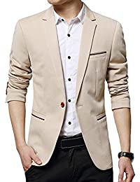 DAVID.ANN Men's Slim Fit Casual Blazer Jacket