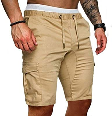 Mens Military Camo Combat Army Cargo Pants Shorts Trousers Gym Hiking Pockets