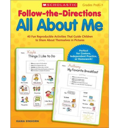Follow-The-Directions All about Me: 40 Fun Reproducible Activities That Guide Children to Share about Themselves in Pictures (Follow-The-Directions) (Paperback) - Common PDF