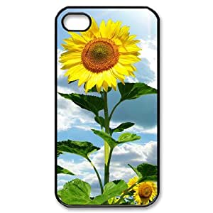 ALICASE Diy Customized hard Case Sunflower For Iphone 4/4s [Pattern-2]
