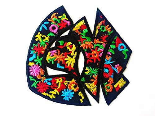 Tyga_Thai Brand Flower Love Logo Lady Rider Biker Tattoo Jacket T-Shirt Patch Sew Iron on Embroidered Sign Badge Clothing etc. (Iron-Love-Flower)