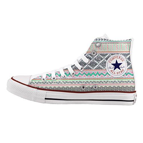 Tribal Personalizzate Colors Stampa Sneakers Scarpe Star Converse All Alta a5pw0q