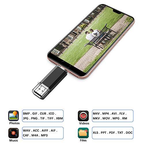VANSUNY Flash Drive 128GB USB C USB Flash Drive Dual Type C USB 3.0 OTG with Keychain for Laptop PC PDA Smartphones Tablet Samsung Black