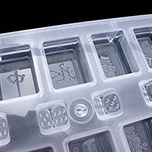 DIY Mahjong Chocolate Mold Baking Mould Mahjong 13 Unitary Cake Mold