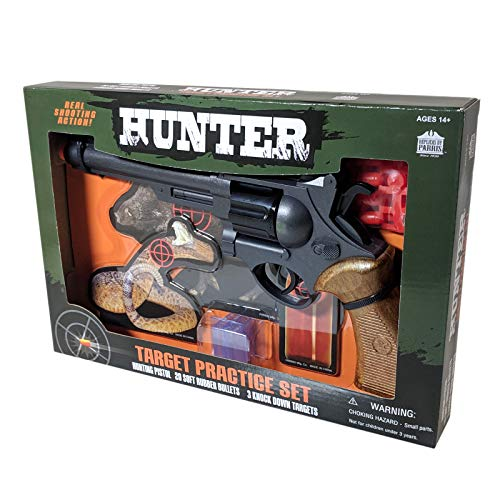 Parris Hunter Target Practice Kit Airsoft Pistol Toy Gun Knock Down Targets (Rubber Bullets For Airsoft Gun)