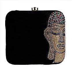 Royal Pitarah Women's Sworksi Budha Clutch Black 6