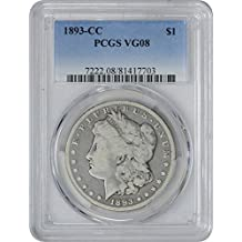 1893 CC Morgan Dollar VG08 PCGS
