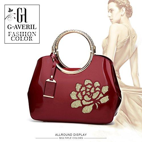 a sacchetto rossa tracolla Vino rosa del Borsa Tote Rosso Mano Spalla di Borse borsa a Borsa Donna GAVERIL Borse borsa TqYf8W