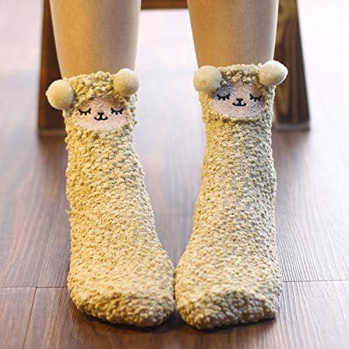 Bambino e Bambina Z-Chen 5 Paia di Calzini in Cotone Termici Calze Corti a Pantofola Inverno