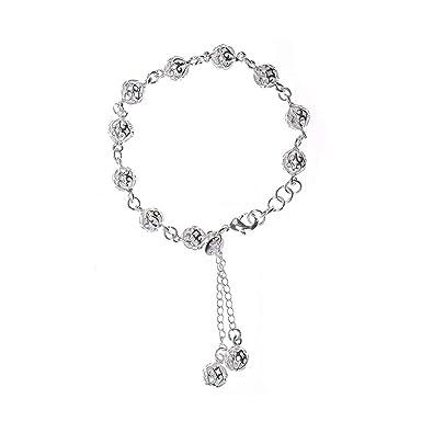 b7e4246460fe Trifycore Manera hermosa pulsera de plata 925 joyería elegante de diseño  clásico para las mujeres