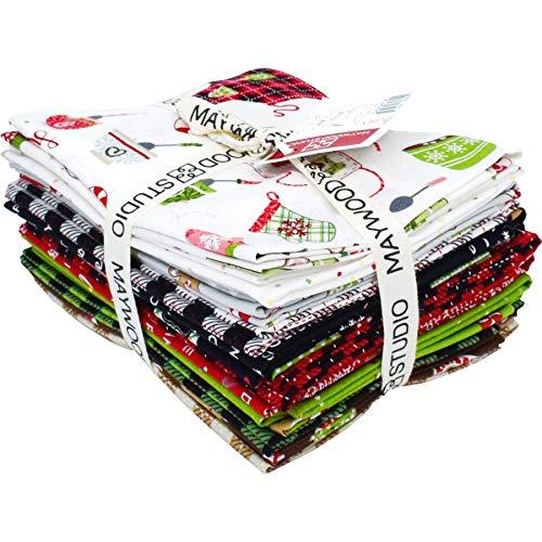 (Maywood Studio We Whisk You a Merry Christmas! Fat Quarter Bundle by Kim Christopherson FQ-MASWYMC)