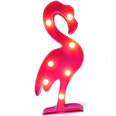 LED Flamingo Light, Marquee Flamingo Light Battery Powered Night Table Light for Home Wall Kid's Gift Room Holiday Birthday Party Decorations Pink: Home Improvement
