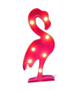 Ins/Chic Style Decor Light,Nordic Style Pink Flamingo Party Light, Marquee Lights for Wall Decor Holiday Birthday Party LED Lamp Light, and for Kids Baby Adults Bedroom,Living room,Cute Office decor