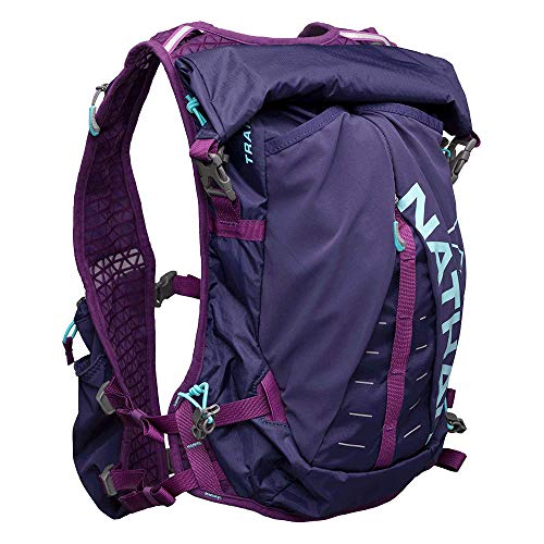 Nathan TrailMix Running Vest/Hydration Pack. 12L (12 Liters) for Men and Women | 2L Bladder Included (2 liters). Zipper, Pocket (Astral Aura/Majesty/Blue Radiance, One Size Fits ()