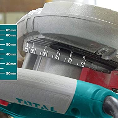 MR LIGHT TOTAL 1500W, 5000RPM with Adjustable Depth and Bevel Cutting Circular Saw (Multicolour) 12