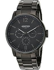 Armitron Mens 20/5218BKTI Multi-Function Dial Black Bracelet Watch