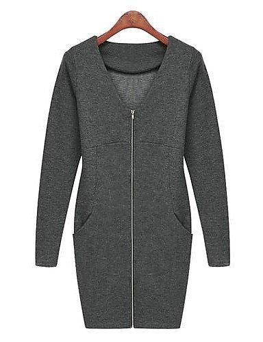 GSP-Damen Kleid - Übergrößen Übergröße / Leger Übers Knie Baumwolle
