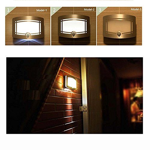 Wireless Motion Sensing Lights, Warm LED Wall Light, Aluminum Stick-on Indoor Security Light, Battery Operated Sconce Wall Night Lamp for Stair/Kitchen/Bathroom/Laundry Room/Hallway/Closet by DEGOL (Image #4)