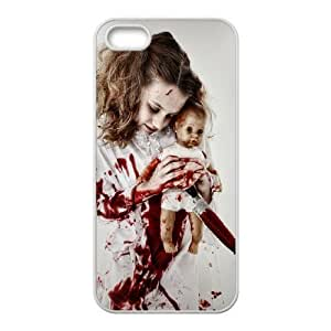 Bloody Bloody girl CHA2042933 Phone Back Case Customized Art Print Design Hard Shell Protection Iphone 5,5S