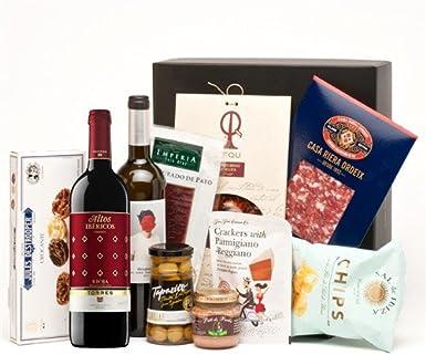 Pack con Vinos, Ibéricos y Picoteo Gourmet Variado: Amazon.es ...