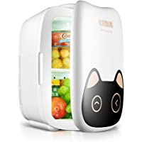 KEMIN 6L | Compact | AC + DC Power Compatibility | Low Energy Portable Mini Refrigerator Beverage Refrigerator | Suitable For Family Travel And Camping | Cat shape smart version 12V/220V