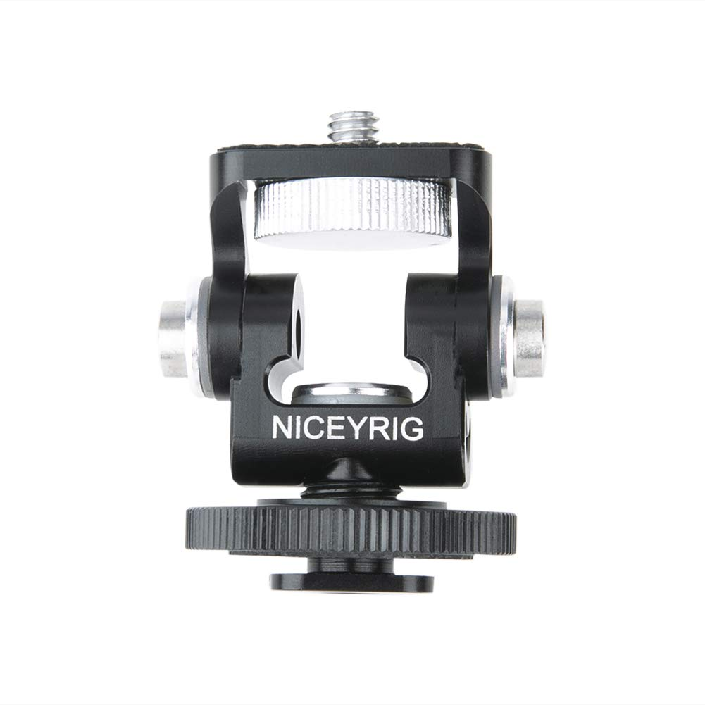 335 NICEYRIG Field Monitor Mount Hot Shoe and 1//4 Universal Holder Mount for DSLR Camera Gimbal Stabilizer Video System