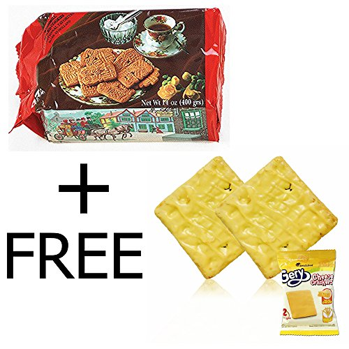 BONUS PACKS - Ruiter Banket Speculaas, 14-Ounce (Pack of 4) + FREE Gery Cheese Crackers (Pack of 1) (Cheese Dutch)
