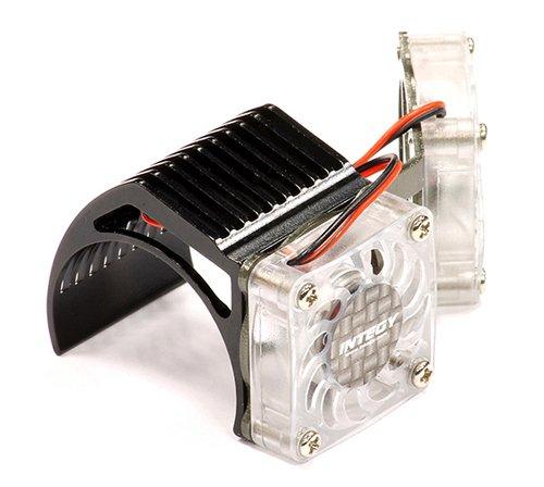 Integy RC Hobby 2961BLACK Twin Motor Cooling Fan + Heatsink 540/550