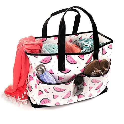 Viva Terry Large Waterproof Beach Travel Tote bag Handbag Organizers- Watermelon by Viva Terry (Image #1)